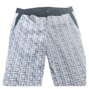 Lane Bryant Black and white plaid pants 16